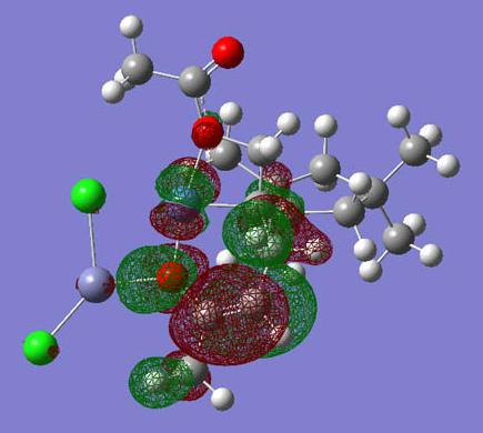計算化学にて導かれた反応中間体の図